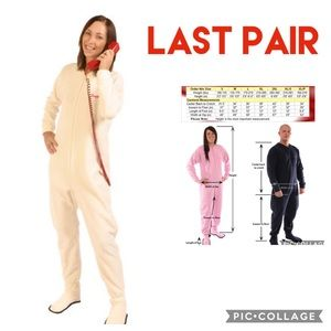 NWT - CREAM Adult Footed Pajamas